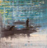 Pescador con Perro - Izik Lambez