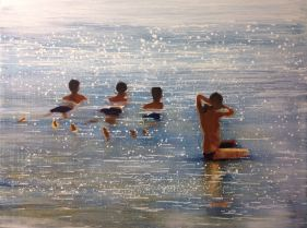 Niños en la Playa - Izik Lambez
